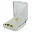 """7/8"""" 14K Gold Oval Miraculous Medal With a Polished Border   (Hollow)"""
