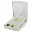 """7/16"""" Small 14K Gold Small Round St. Christopher Medal With Polished Border"""
