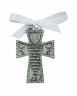 3 Inch Pewter Guardian Angel Cradle Cross