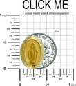 "5/8"" 14K Gold Oval Miraculous Medal With a Polished Border"