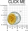 "5/8"" 14K Gold Oval St. Christopher Medal With a Polished Border"