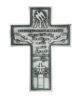 5 Inch Antique Pewter Baptism Wall Cross