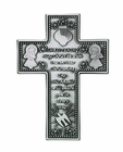 5 Inch Antique Pewter Christening Cross