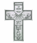 5 Inch Antique Pewter Confirmation Cross