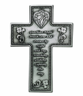 5 Inch Antique Pewter Guardian Angel Wall Cross