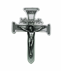 5 Inch Antique Pewter Nail Crucifix