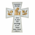 "6"" Boy First Communion Blessing Resin Wall Cross"