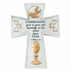 "6"" First Communion Resin Wall Cross"