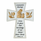 """6"""" Girl First Communion Blessing Resin Wall Cross"""