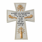 "6"" Resin ""Blessings On Your Baptism"" Wall Cross"