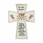 """6"""" Resin Confirmation """"For My Sponsor""""  Wall Cross"""
