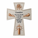 "6"" Resin Grandson's Baptism Wall Cross"