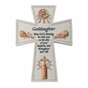"6"" Resin Goddaughter's Baptism Wall Cross"