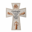 "6"" Resin Granddaughter's Baptism Wall Cross"