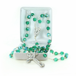 6mm Emerald Fire Beads and Madonna Center Rosary