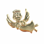 7/8 Inch Gold Flat Angel