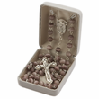 7 x5mm Black Wood Beads and Madonna & Baby Center Rosary