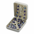 7mm Amethyst Fire Polished Crystal Beads and Madonna Center Rosary