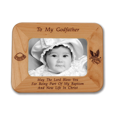 8 12 X 6 12 To My Godfather Laser Engraved Maple Wood Photo Frame