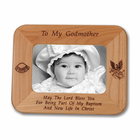 "8 1/2"" x  6 1/2""  'To My Godmother'  Laser Engraved Maple Wood Photo Frame"