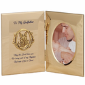 "8"" x 5"" Godfather Hinged Metal Baptism Photo Frame With Guardian Angel"