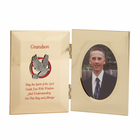 "8"" x 5"" Metal Photo Frame for Grandson's Confirmation"