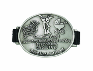 Baby Girl Guardian Angel Car Seat Medal