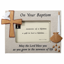 "Baptism Resin Picture Frame for 4"" x 6""  Photo"