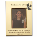 """Confirmed In Christ"" Metal Photo Frame Holds 4"" x 6"" Photo"
