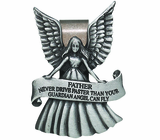 Father Never Drive Faster Than Your Guardian Angel Can Fly Visor Clip