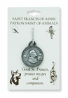 Fine Pewter St. Francis of Assisi Pet Medal