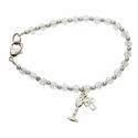 First Communion Crystal Bead Bracelets