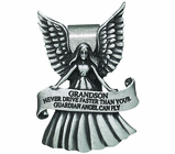 Grandson Never Drive Faster Than Your Guardian Angel Can Fly Visor Clip