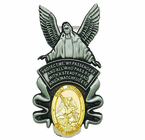 Guardian Angel With St. Michael Medal Visor Clip