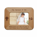 """My Sponsor & Me"" Laser Engraved Maple Wood Photo Frame Holds 4"" x 6"" Photo"
