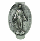 Miraculous Oval With Mother Mary Visor Clip