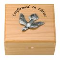 Personalized Confirmed In Christ Maple Wood Keepsake Box