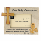 "Resin Photo Frame With Holy First Communion Symbols For 4"" x 6"" Photo"