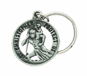 Saint Christopher Pierced Key Chain