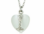 Silver Heart Silver Chalice On 18 Inch Stainless Steel Chain