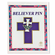 1/2 Inch Small Flat Butterfly Cross Pin