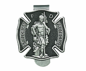 St. Florian Protect Us Firefighter Visor Clip