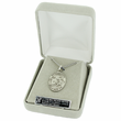 """St. Raphael, Patron of Blindness, Sterling Silver Engraved Medal on 24"""" Chain"""