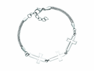 Stainless Steel Crosses Bracelet