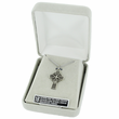 "Sterling Silver Celtic Cross Necklace on 18"" Chain"