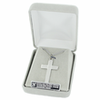 """Sterling Silver Cross Necklace in a Black Onyx Design on 20"""" Chain"""