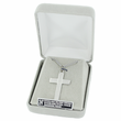 Sterling Silver Dove Necklace in a Pierced Cross Design