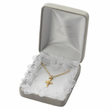 """Sterling Silver January Garnet Birthstone Baby Cross Necklaces on 13"""" chain"""