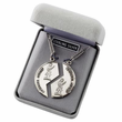 Sterling Silver Marine Mizpah Medal Necklace with Genesis 31:48 on  Back