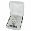 """Sterling Silver Satin Engraved Antiqued Four Way Medal Necklace on 18"""" Chain"""